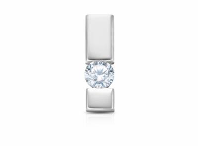 zlatý přívěsek s diamantem 0.20ct H/IF s EGL certifikátem