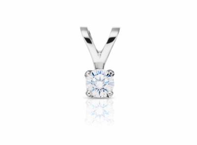 zlatý přívěsek s diamantem 0.21ct E/VVS1 s IGI certifikátem