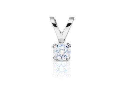 zlatý přívěsek s diamantem 0.233ct D/VS2 s IGI certifikátem