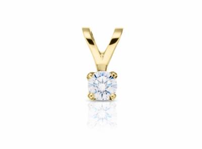 zlatý přívěsek s diamantem 0.23ct E/VS2 s IGI certifikátem
