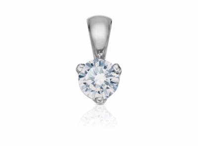 zlatý přívěsek s diamantem 0.30ct E/SI1 s GIA certifikátem