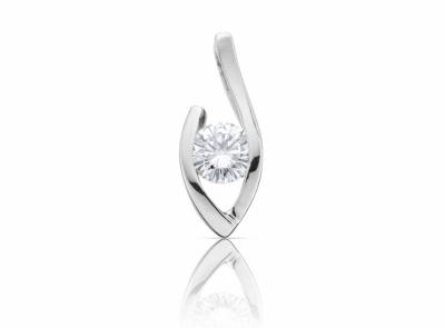zlatý přívěsek s diamantem 0.30ct F/VVS1 s GIA certifikátem