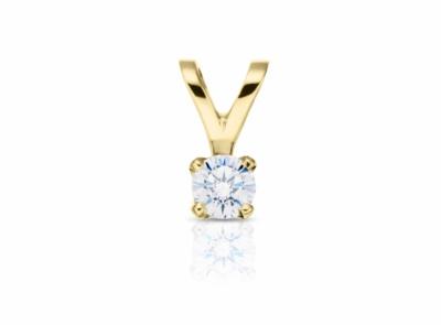 zlatý přívěsek s diamantem 0.30ct G/VVS2 s GIA certifikátem