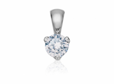 zlatý přívěsek s diamantem 0.333ct F/SI1 s IGI certifikátem