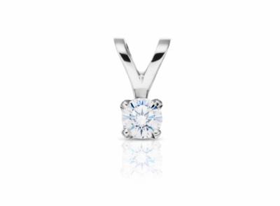 zlatý přívěsek s diamantem 0.33ct F/VVS2 s IGI certifikátem