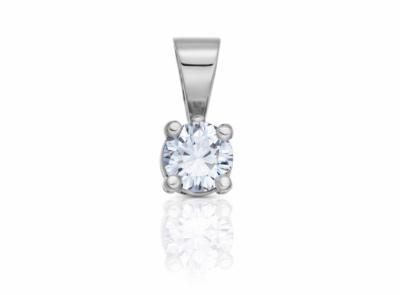 zlatý přívěsek s diamantem 0.34ct F/SI2 s GIA certifikátem