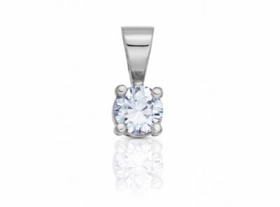 zlatý přívěsek s diamantem 0.35ct E/VS2 s GIA certifikátem