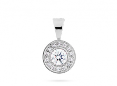 zlatý přívěsek s diamantem 0.41ct D/SI2 s IGI certifikátem
