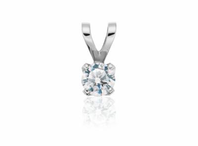 zlatý přívěsek s diamantem 0.50ct D/SI1 s IGI certifikátem
