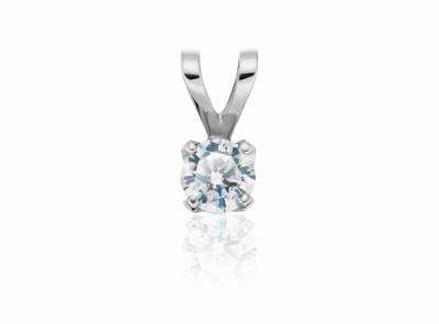 zlatý přívěsek s diamantem 0.54ct E/VS1 s GIA certifikátem