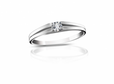 zlatý prsten s diamantem 0.117ct G/VVS1 s IGI certifikátem