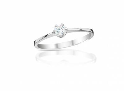 zlatý prsten s diamantem 0.11ct F/SI1 s EGL certifikátem