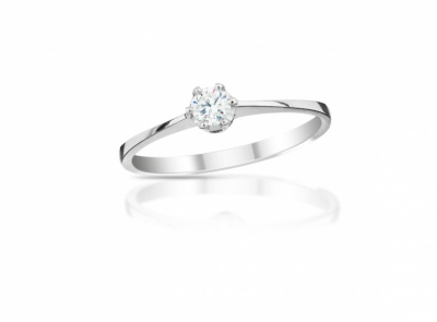 zlatý prsten s diamantem 0.11ct G/VS2 s EGL certifikátem