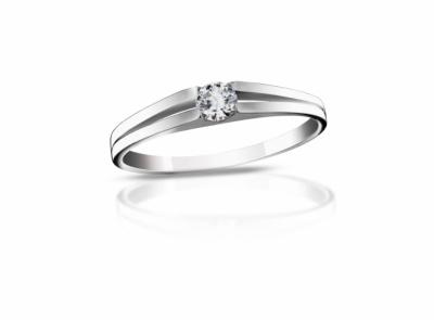 zlatý prsten s diamantem 0.12ct F/VVS2 s EGL certifikátem