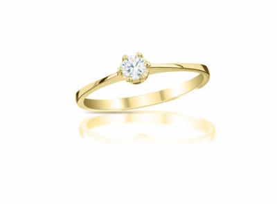 zlatý prsten s diamantem 0.133ct F/VS2 s IGI certifikátem