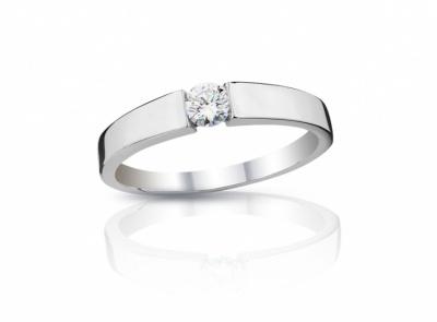 zlatý prsten s diamantem 0.141ct H/VVS2 s IGI certifikátem