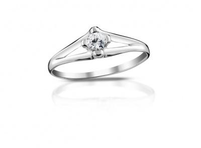 zlatý prsten s diamantem 0.14ct F/VS1 s EGL certifikátem