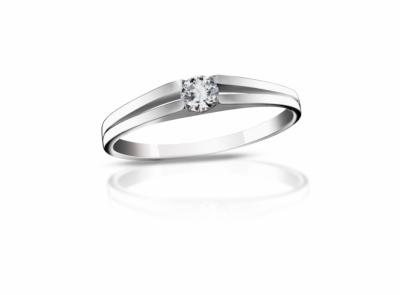 zlatý prsten s diamantem 0.14ct F/VS2 s EGL certifikátem