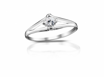 zlatý prsten s diamantem 0.15ct H/SI2 s EGL certifikátem