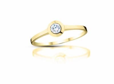 zlatý prsten s diamantem 0.15ct J/VVS1 s EGL certifikátem