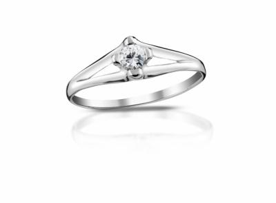 zlatý prsten s diamantem 0.16ct G/VVS1 s EGL certifikátem