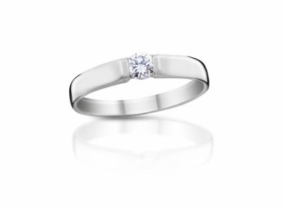 zlatý prsten s diamantem 0.18ct G/VVS2 s IGI certifikátem