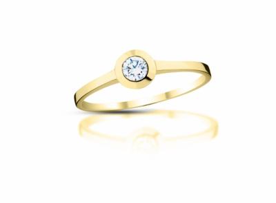 zlatý prsten s diamantem 0.18ct J/VS2 s EGL certifikátem