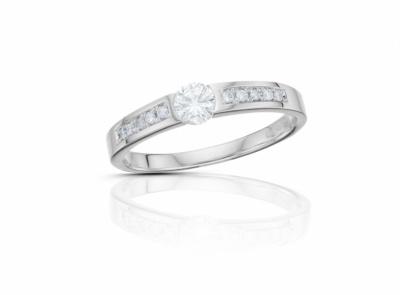 zlatý prsten s diamantem 0.191ct F/VS1 s IGI certifikátem