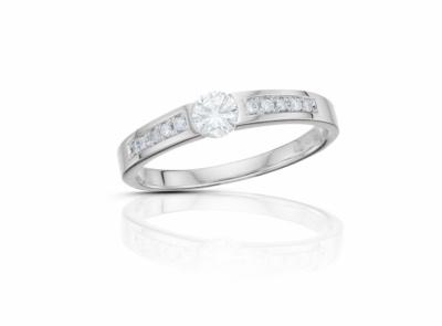 zlatý prsten s diamantem 0.197ct F/VVS2 s IGI certifikátem