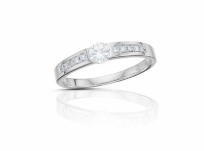 zlatý prsten s diamantem 0.19ct E/VVS1 s IGI certifikátem