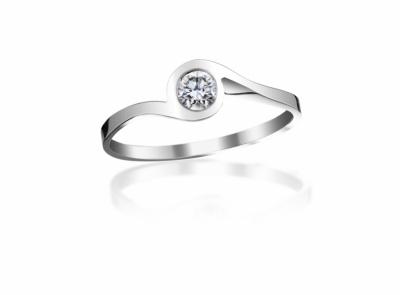 zlatý prsten s diamantem 0.19ct G/VS2 s EGL certifikátem