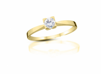 zlatý prsten s diamantem 0.19ct H/VVS1 s EGL certifikátem