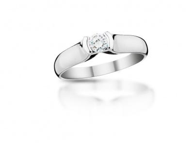 zlatý prsten s diamantem 0.203ct F/VVS2 s IGI certifikátem