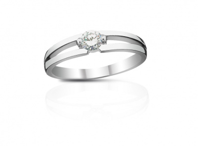 zlatý prsten s diamantem 0.20ct E/VVS2 s EGL certifikátem