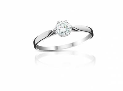 zlatý prsten s diamantem 0.20ct G/VVS1 s EGL certifikátem