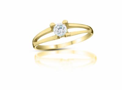 zlatý prsten s diamantem 0.20ct G/VVS2 s EGL certifikátem