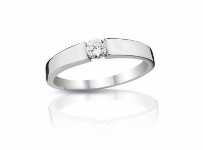 zlatý prsten s diamantem 0.215ct D/VVS2 s IGI certifikátem