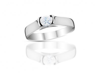zlatý prsten s diamantem 0.21ct G/VVS2 s EGL certifikátem