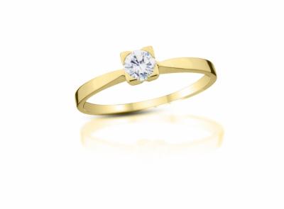 zlatý prsten s diamantem 0.21ct H/SI2 s EGL certifikátem