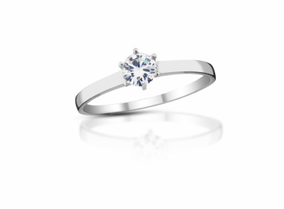 zlatý prsten s diamantem 0.21ct H/VVS1 s EGL certifikátem
