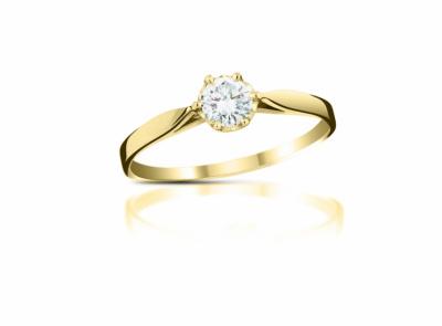 zlatý prsten s diamantem 0.22ct H/VVS1 s EGL certifikátem