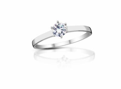 zlatý prsten s diamantem 0.22ct J/VS2 s EGL certifikátem