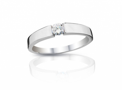 zlatý prsten s diamantem 0.236ct G/VVS2 s IGI certifikátem