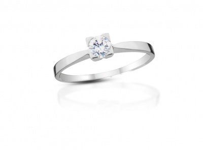 zlatý prsten s diamantem 0.23ct D/SI1 s EGL certifikátem