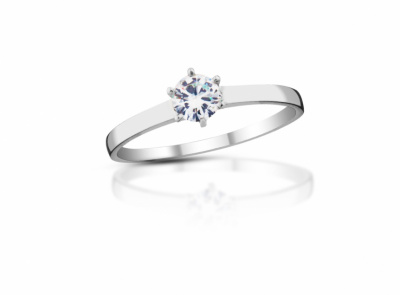 zlatý prsten s diamantem 0.23ct D/VS2 s EGL certifikátem