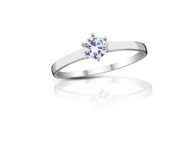 zlatý prsten s diamantem 0.23ct J/SI1 s EGL certifikátem
