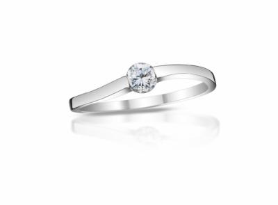 zlatý prsten s diamantem 0.23ct J/VS2 s EGL certifikátem