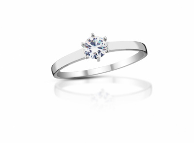 zlatý prsten s diamantem 0.24ct F/VS2 s EGL certifikátem