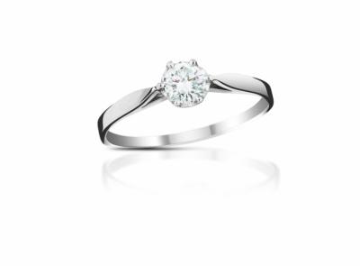 zlatý prsten s diamantem 0.24ct F/VVS1 s IGI certifikátem