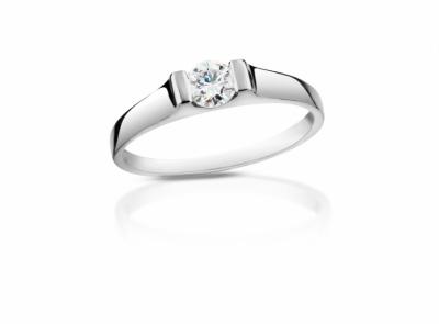 zlatý prsten s diamantem 0.24ct F/VVS2 s IGI certifikátem